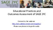 SAGE 2YC Educational Outcomes and Assessment