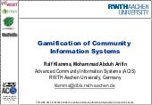 Gamification of Community Information Systems