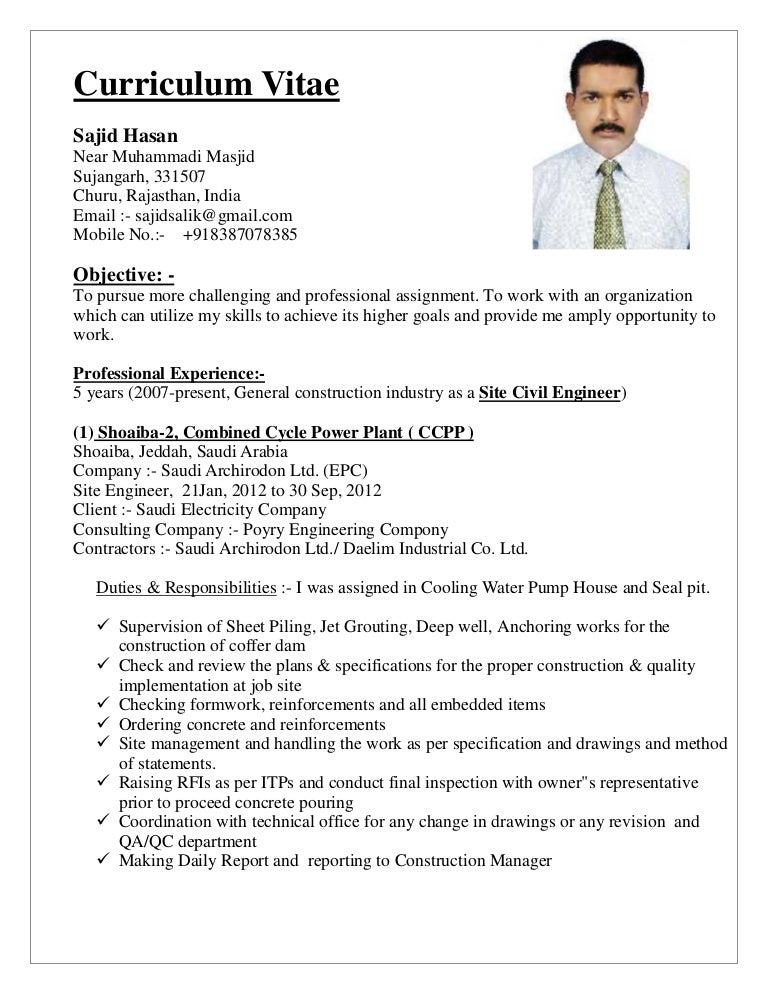 civil engineer cv pdf - Akba.greenw.co