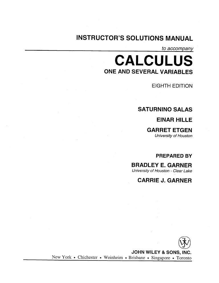 Calculus Salas Hille Volumen 1 Pdf
