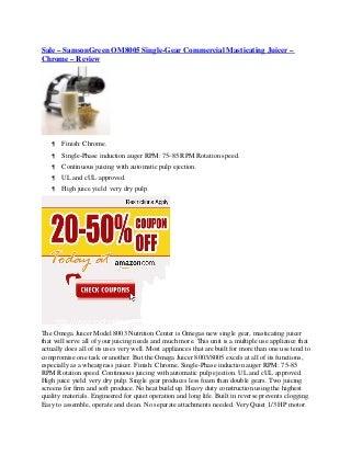 omega nc800 juicer warranty