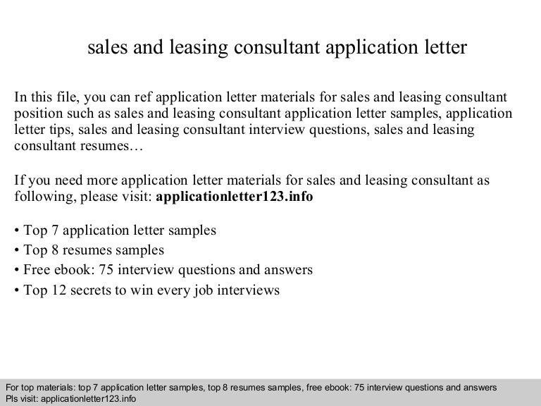 Salesandleasingconsultantapplicationletter 140913083912 Phpapp01 Thumbnail 4cb1410597576