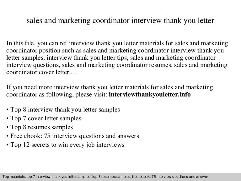sales and marketing coordinator - Marketing Coordinator Interview Questions And Answers