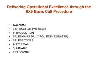 Sales basic call procedure training