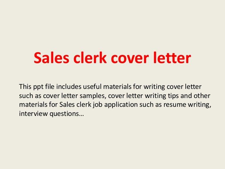 Sales Clerk Position Resume   Example Good Resume Template SlideShare
