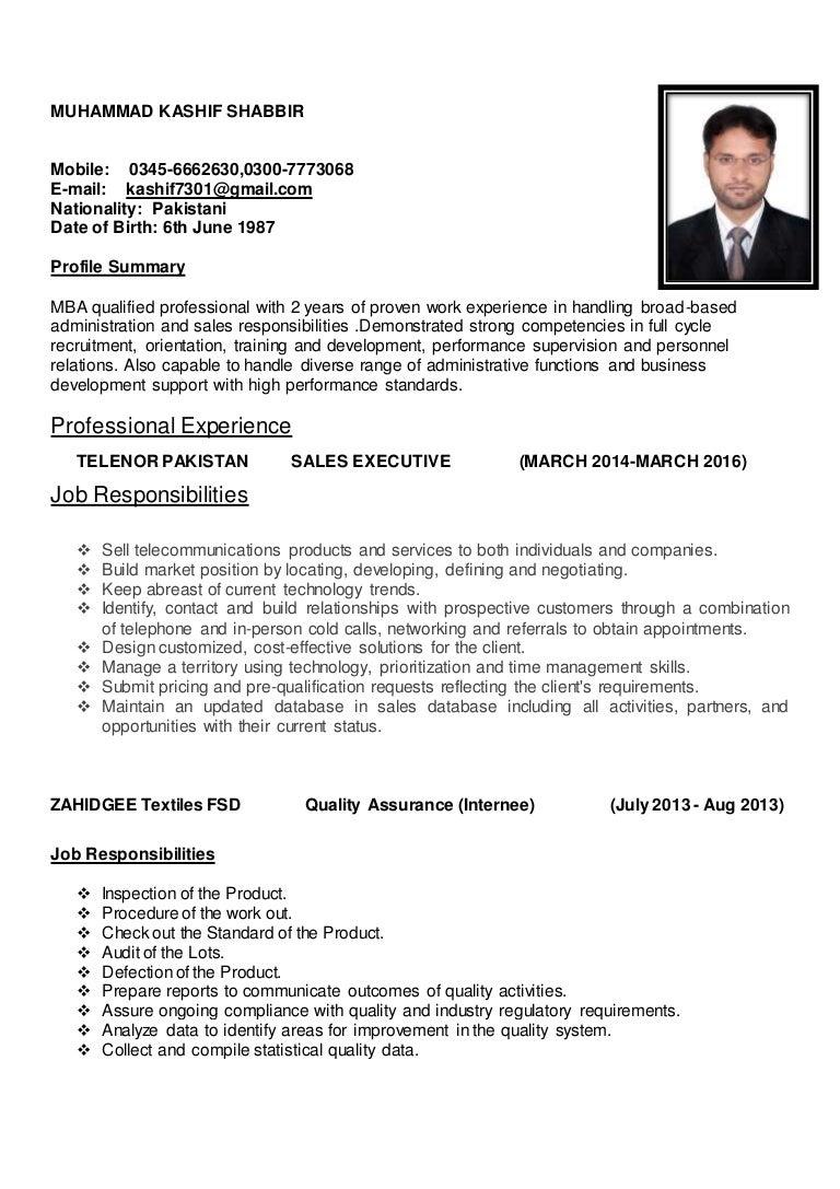 s executive cv