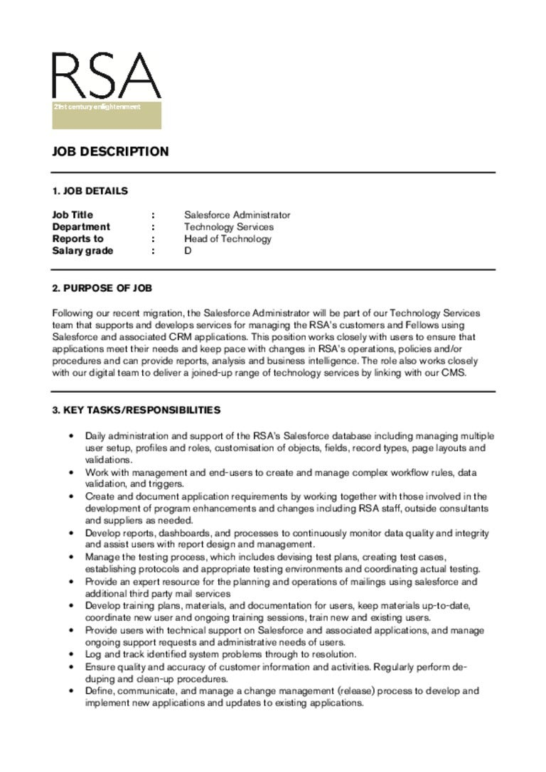 Salesforce Cover Letter