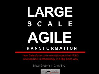 Salesforce.com Agile Transformation - Agile 2007 Conference