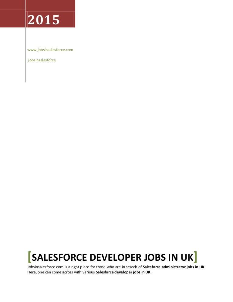 Salesforce Developer Jobs In Uk