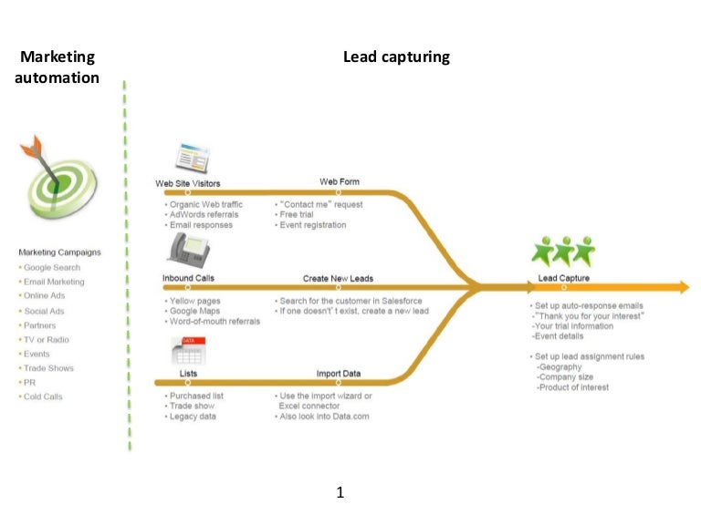 Salesforce.com process map (from lead to opportunity)