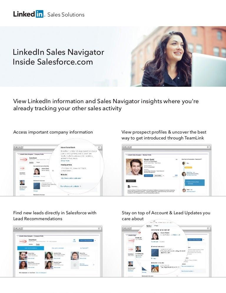 Sales Navigator for Salesforce iFrame 9-1-16