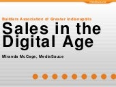 Sales In The Digital Age for the Builders Association of Greater Indianapolis