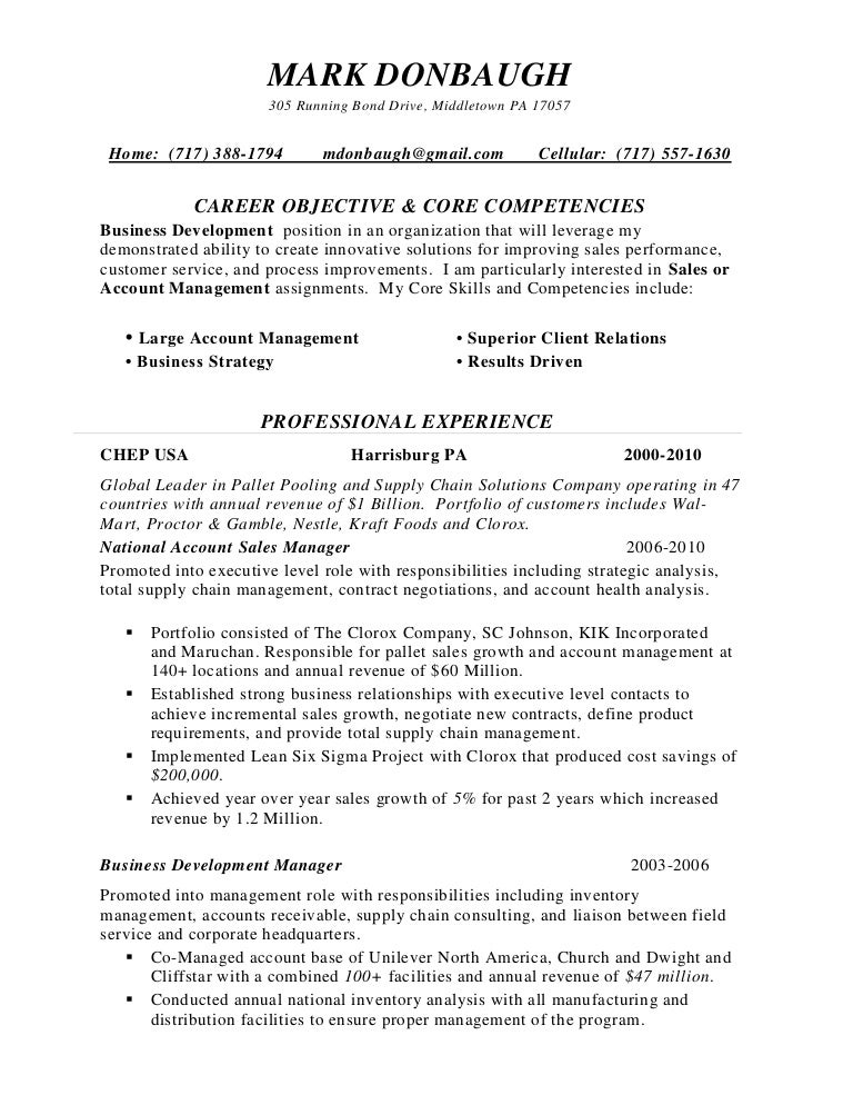 Sales Management Resume Home Territory - Territory Manager