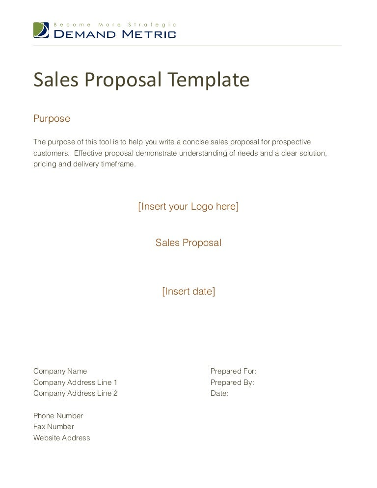 sales proposal sample