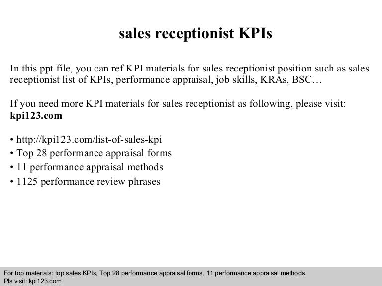 Sales receptionist kp is