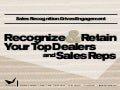 Sales Recognition Drives Engagement