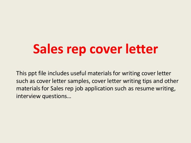 salesrepcoverletter 140228034711 phpapp02 thumbnail 4jpgcb1393559259. Resume Example. Resume CV Cover Letter