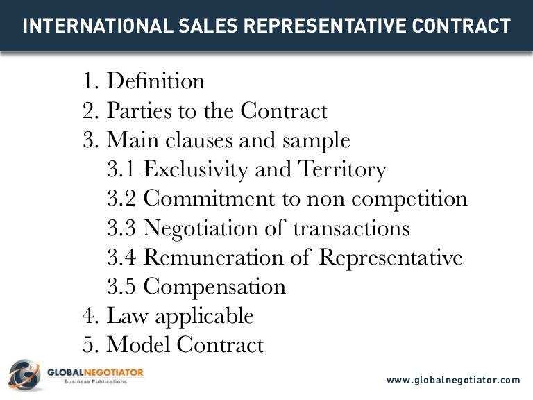international sales representative contract contract template and s - International Sales Representative
