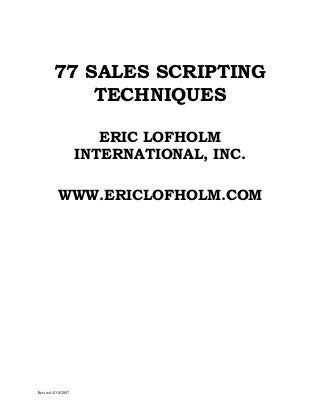 Sales Script | LinkedIn