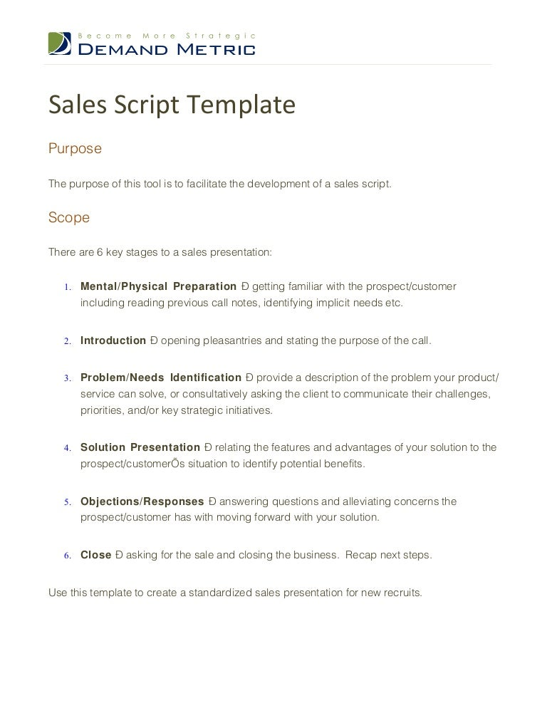 screenplay outline template - sales script template