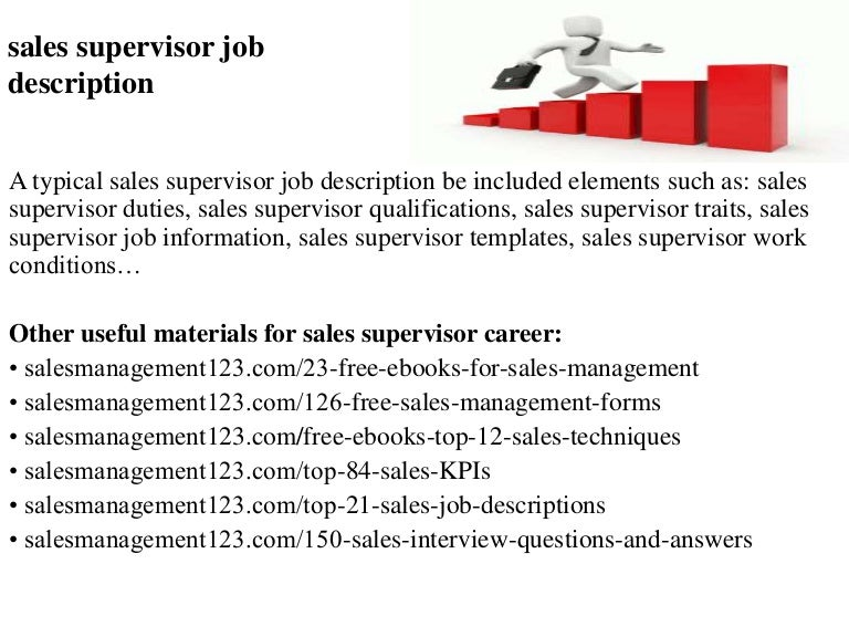 Sales supervisor job description – Supervisor Job Description