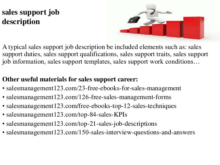 Sales Associate Job Description Sales Support Job Description