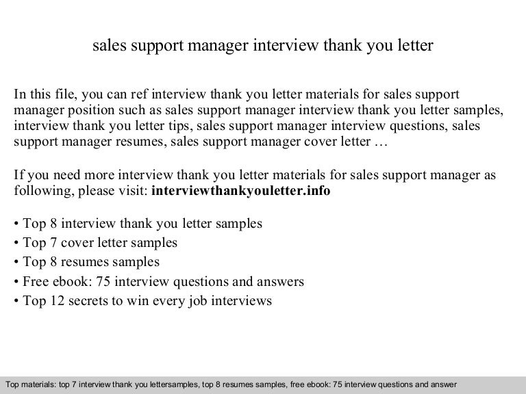 Sales support manager