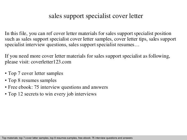 Sales support specialist cover letter spiritdancerdesigns Choice Image