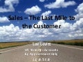 Sales – The Last Mile to the Customer