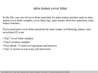 Corporate Trainer Cover Letter Example Dravit Si Create My Cover Letter