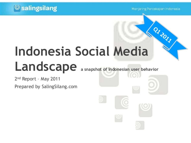 Indonesia Social Media Landscape Q1 2011 - 2nd SalingSilang