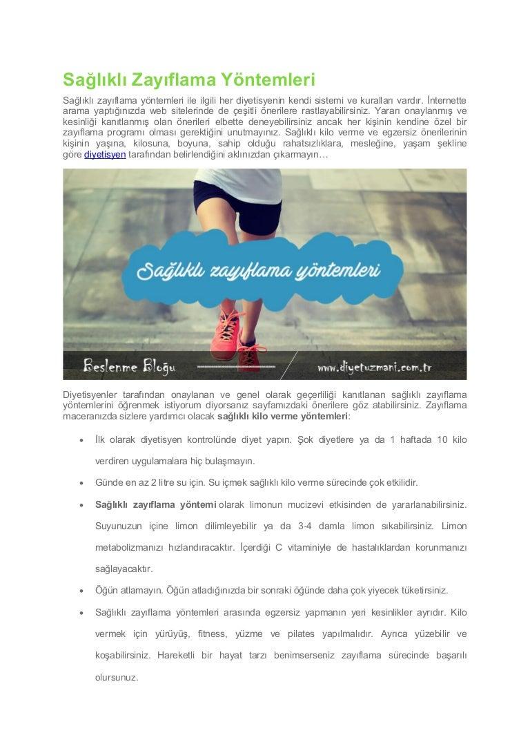 Zayıflamak için Dikkat edilecek 10 Kural