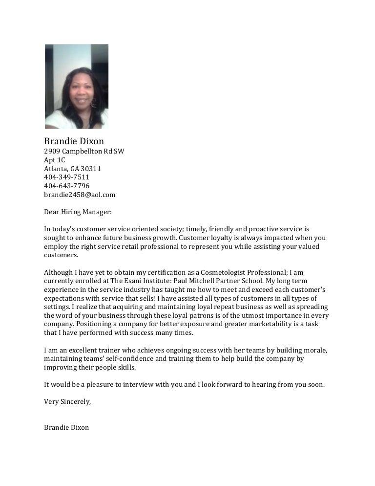SlideShare  Cosmetology Cover Letter