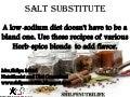 Salt Substitute Recipes