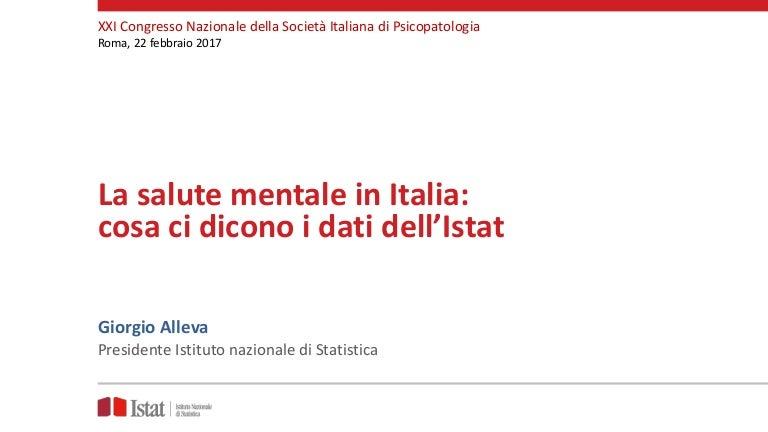 Giorgio Alleva La Salute Mentale In Italia Cosa Ci Dicono I Dati D