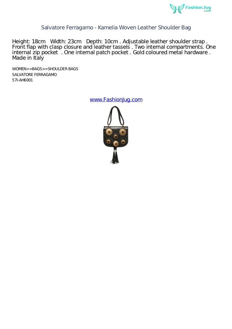 e23fca54b1 Salvatore ferragamo kamelia woven leather shoulder bag - fashion jug …