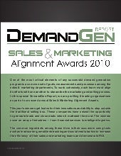 Sales & Marketing Alignment Awards 2010