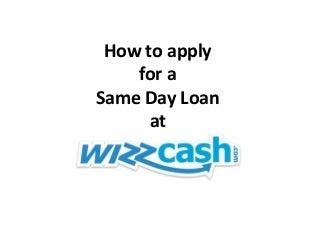 Same day loans - wizzcash.com