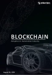 Blockchain Adoption in the Automotive Industry