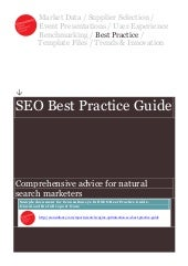 Sample SEO Best Practice Guide