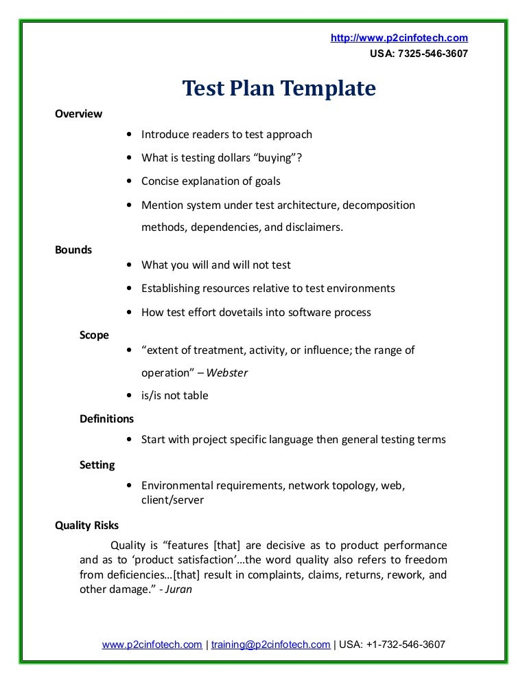 Sample Test Plan Doc
