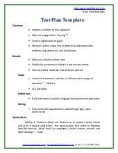 Test plan on iit website