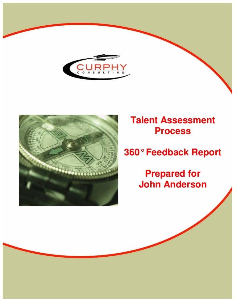 Sample 360 Feedback Report, Gordon Curphy, Phd
