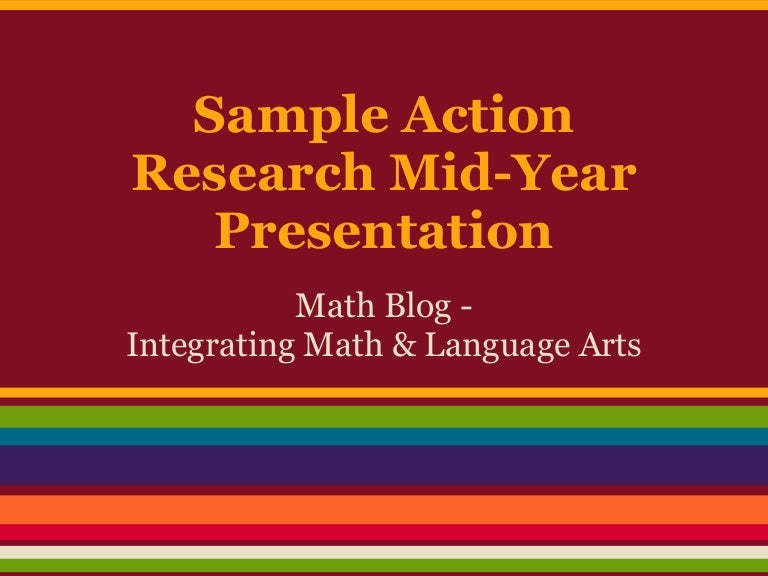 Sample Action Research Presentation