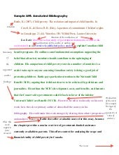 Creating an Annotated Bibliography in APA Style