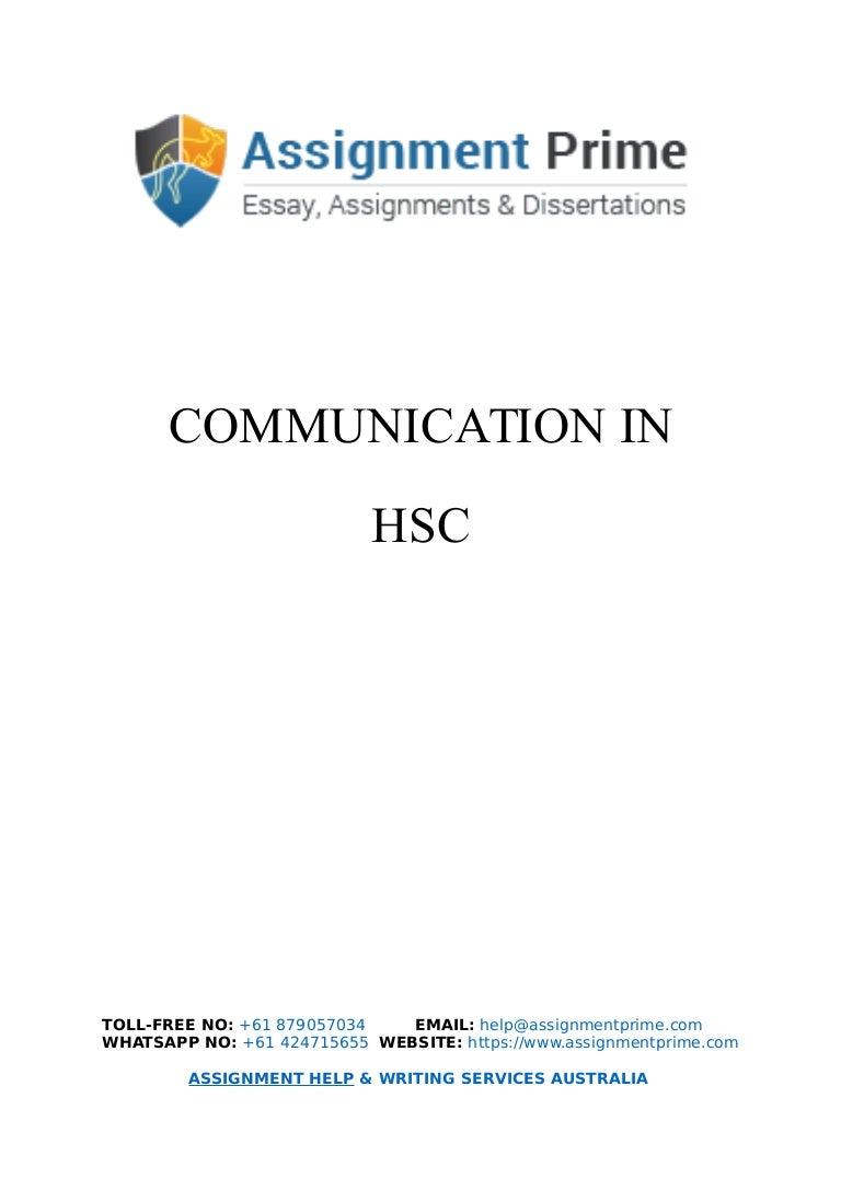 sample assignment on communication in hsc assignment prime