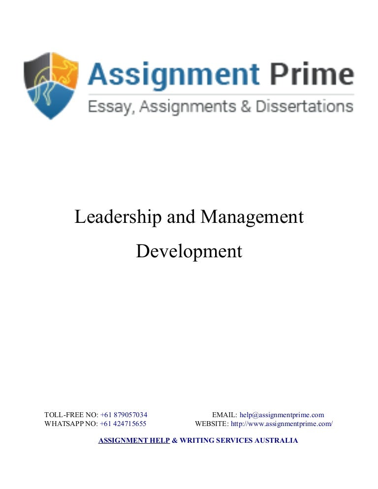 sample assignment on leadership management development