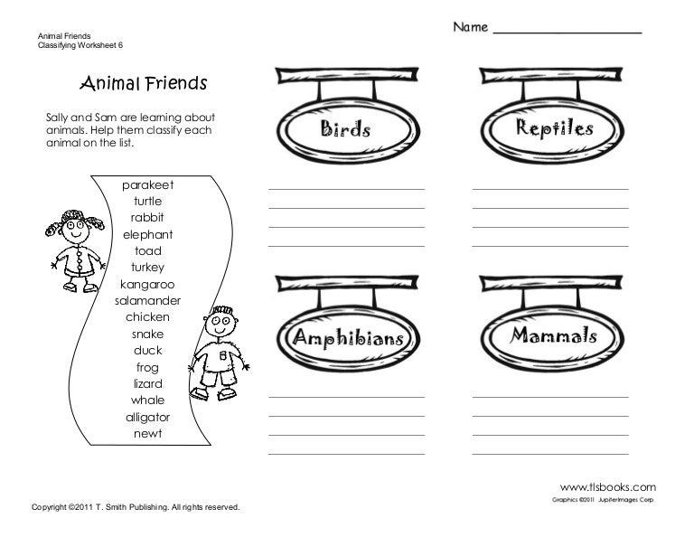 sample worksheet – Vertebrates and Invertebrates Worksheets