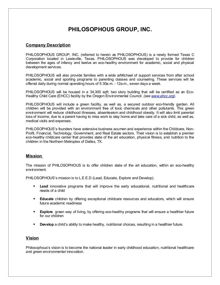 Sample Business Plan Synopsis - Film business plan template