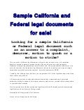Sample legal documents for sale!